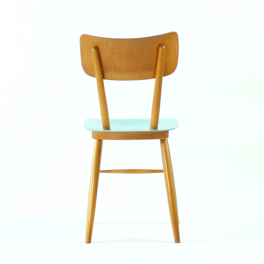 vintage st hle mit blauen sitzen von ton 1960er bei. Black Bedroom Furniture Sets. Home Design Ideas