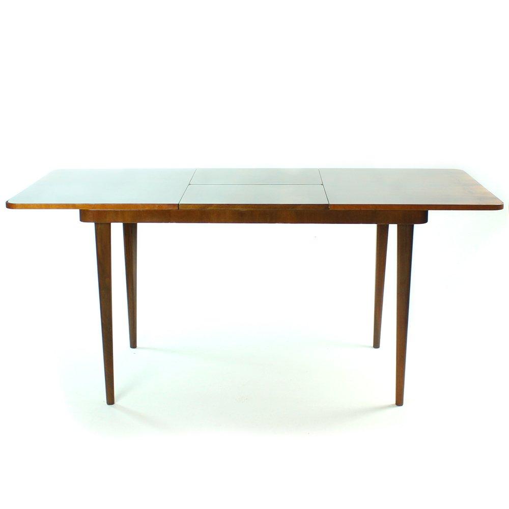 Former Czechoslovakian Fold Out Dining Table In Walnut
