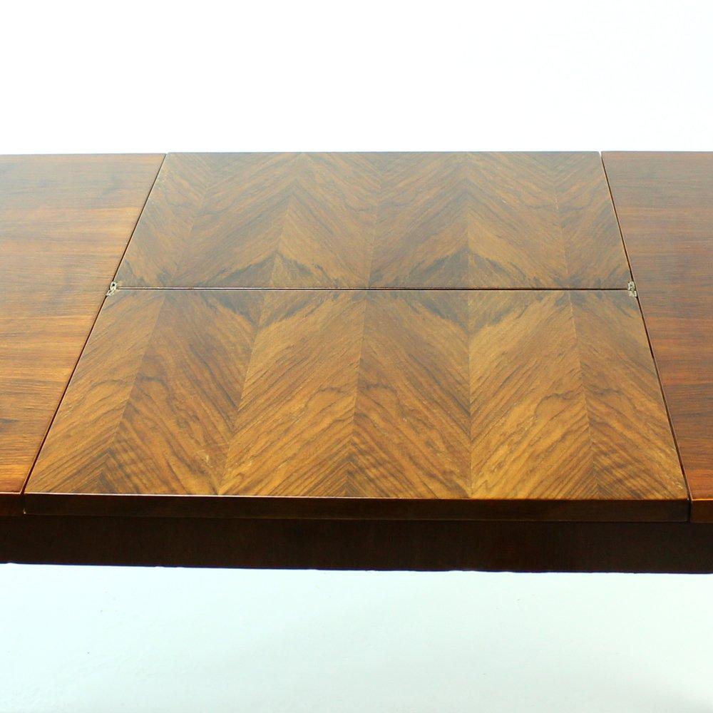 Former Czechoslovakian Fold Out Dining Table in Walnut  : former czechoslovakian fold out dining table in walnut veneer from mier 1960s 12 from www.pamono.co.uk size 1000 x 1000 jpeg 518kB