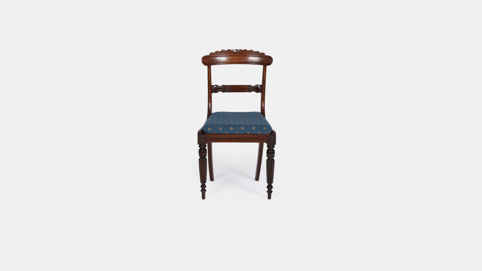 vantique mahagoni regency st hle 6er set bei pamono kaufen. Black Bedroom Furniture Sets. Home Design Ideas