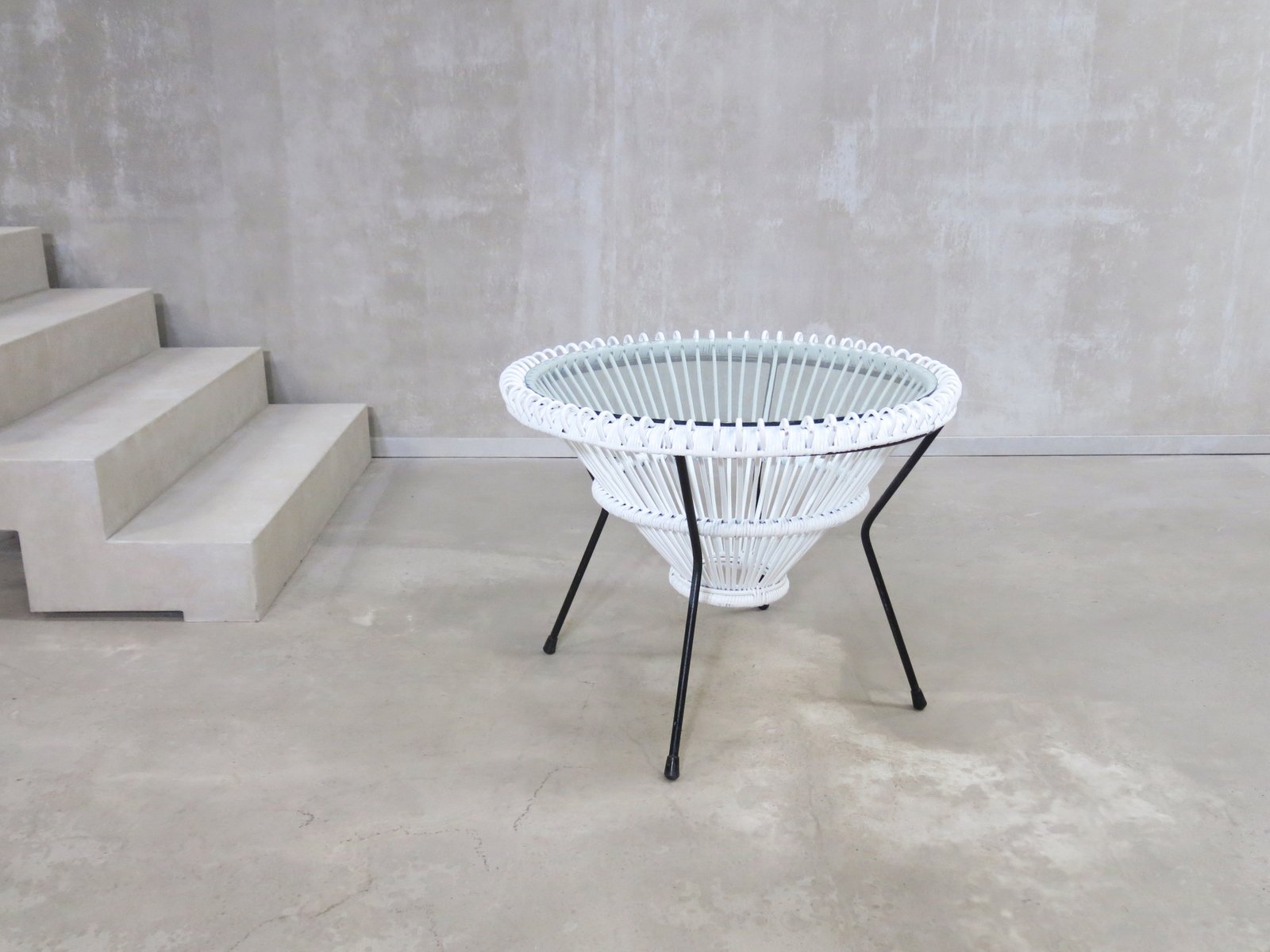 White Rattan Coffee Table Table Designs