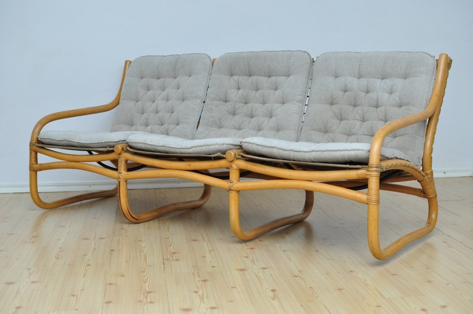 vintage rattan sofa 1970er bei pamono kaufen. Black Bedroom Furniture Sets. Home Design Ideas
