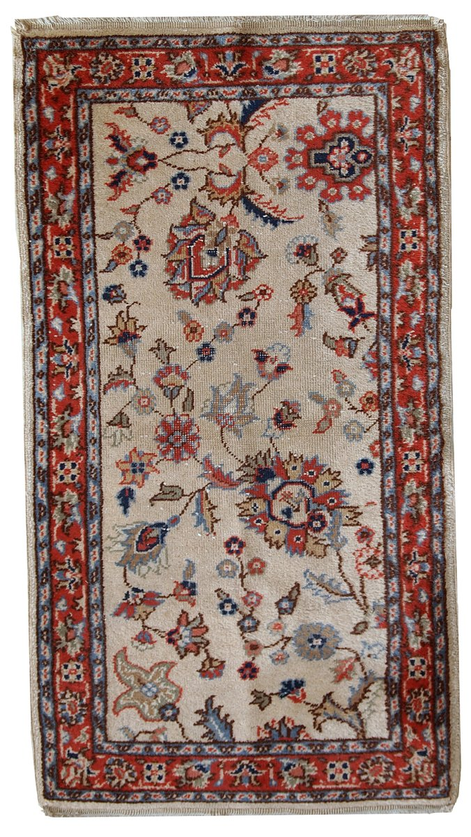 Vintage Handmade Pakistani Lahore Rug 1950s For Sale At