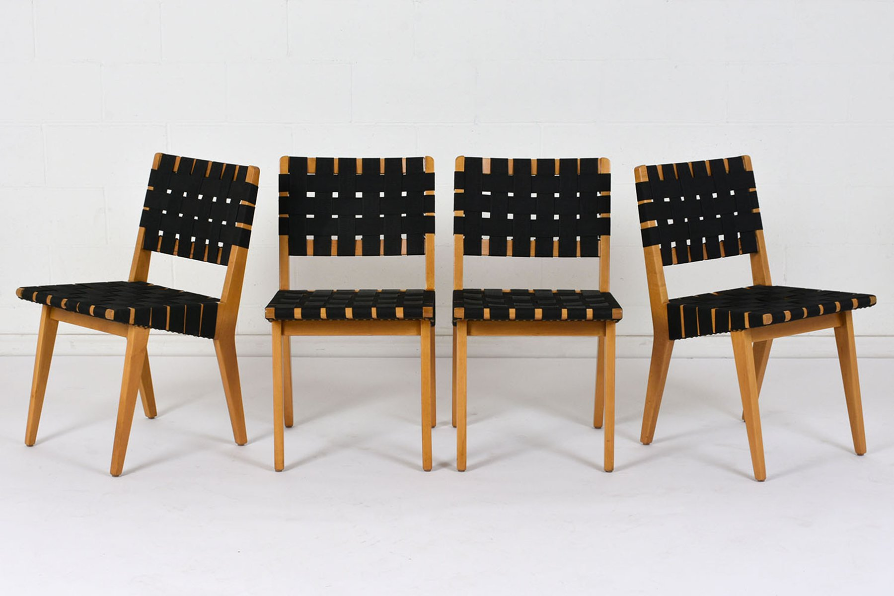 Mid century modern dining chairs set of 4 for sale at pamono for Designer dining chairs sale