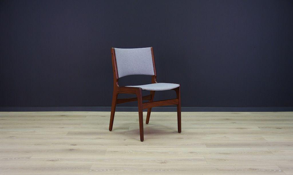 d nische vintage teak st hle von johannes andersen 5er set bei pamono kaufen. Black Bedroom Furniture Sets. Home Design Ideas