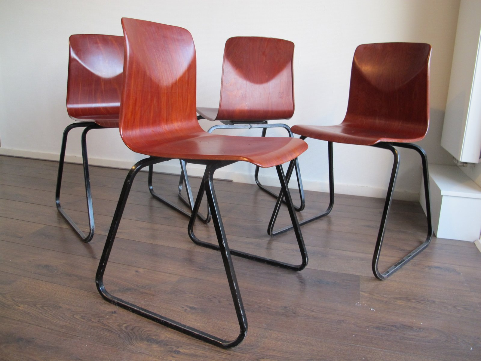 Vintage Industrial Chairs from Galvanitas Thur op Seat 1960s Set