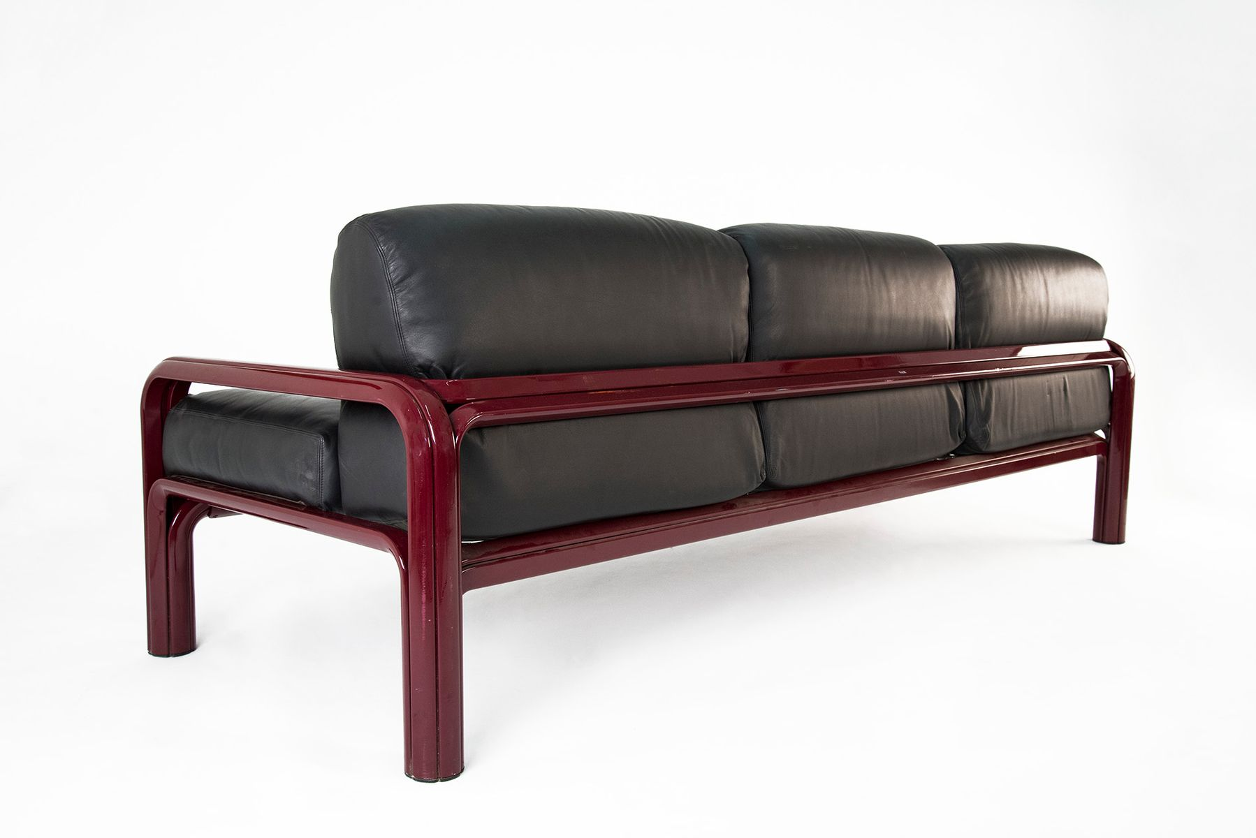 Leather Sofa by Gae Aulenti for Knoll 1976 for sale at Pamono