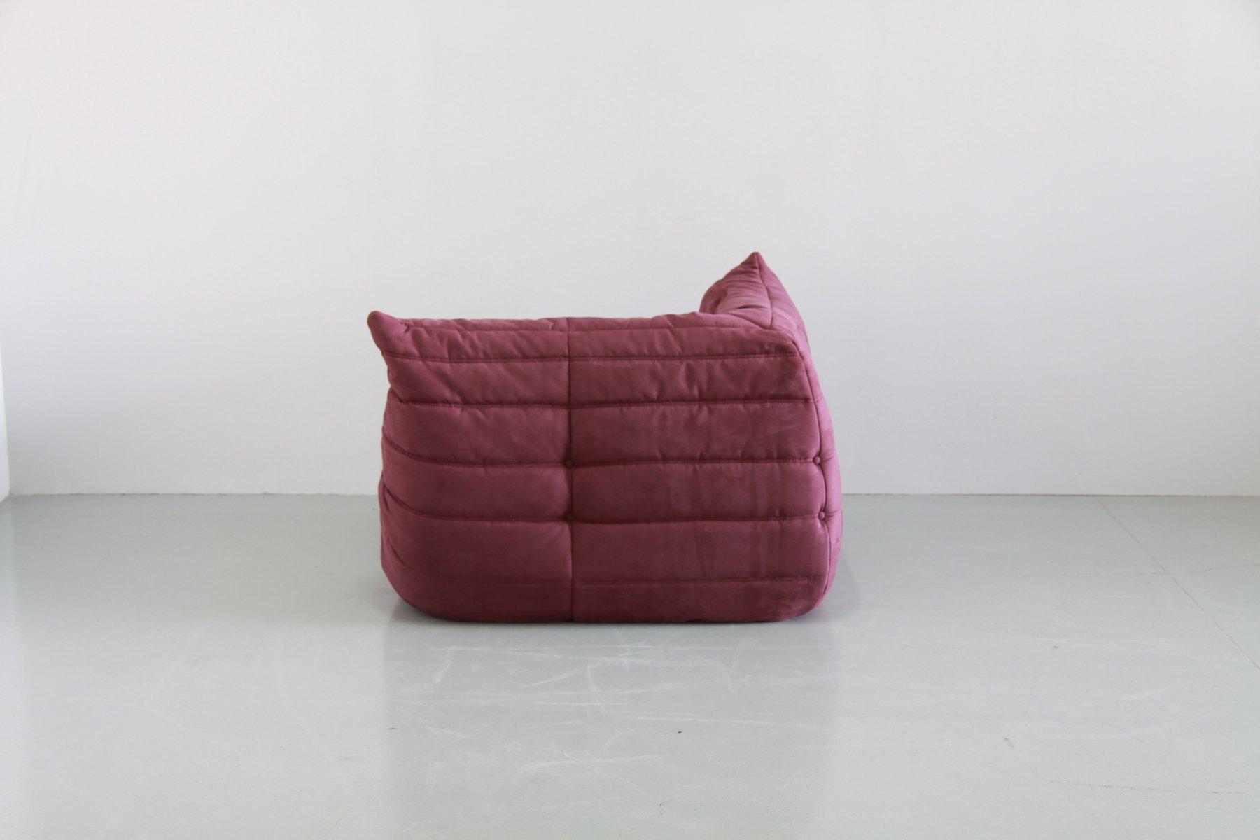 vintage aubergine togo wohnzimmer set von michel ducaroy f r ligne roset bei pamono kaufen. Black Bedroom Furniture Sets. Home Design Ideas