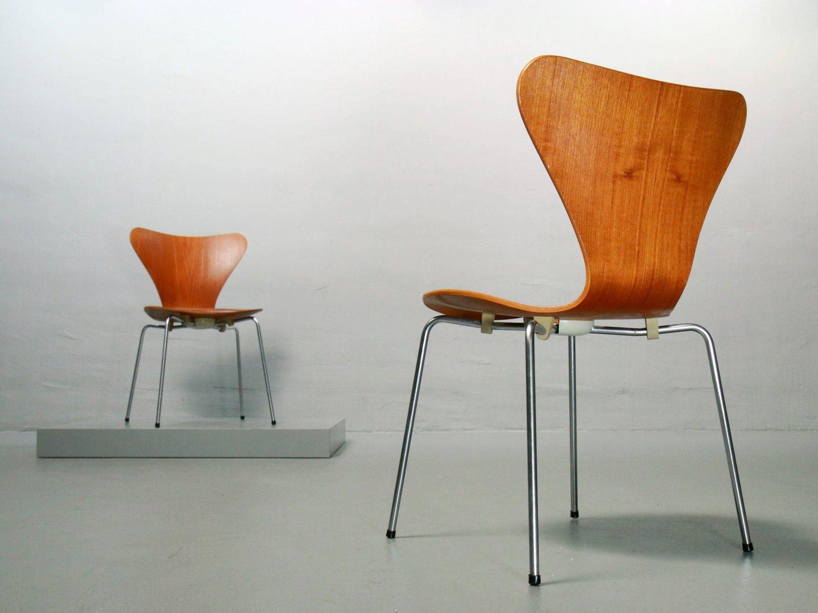 3107 Teak Chair by Arne Jacobsen for Fritz Hansen 1970 for sale