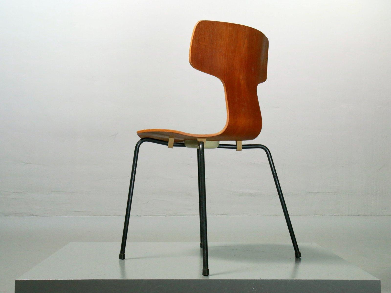 3103 teak chair by arne jacobsen for fritz hansen 1967 for Chaise arne jacobsen