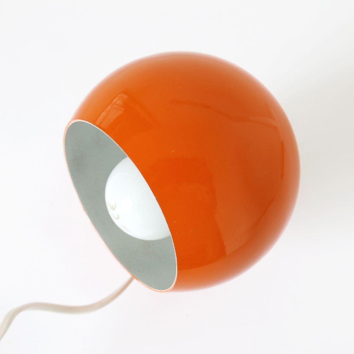 Vintage Bright Orange Magnetic Ball Lamp from Lampadari Reggiani ...
