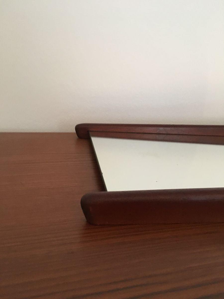d nischer spiegel mit rahmen aus teak 1960er bei pamono kaufen. Black Bedroom Furniture Sets. Home Design Ideas
