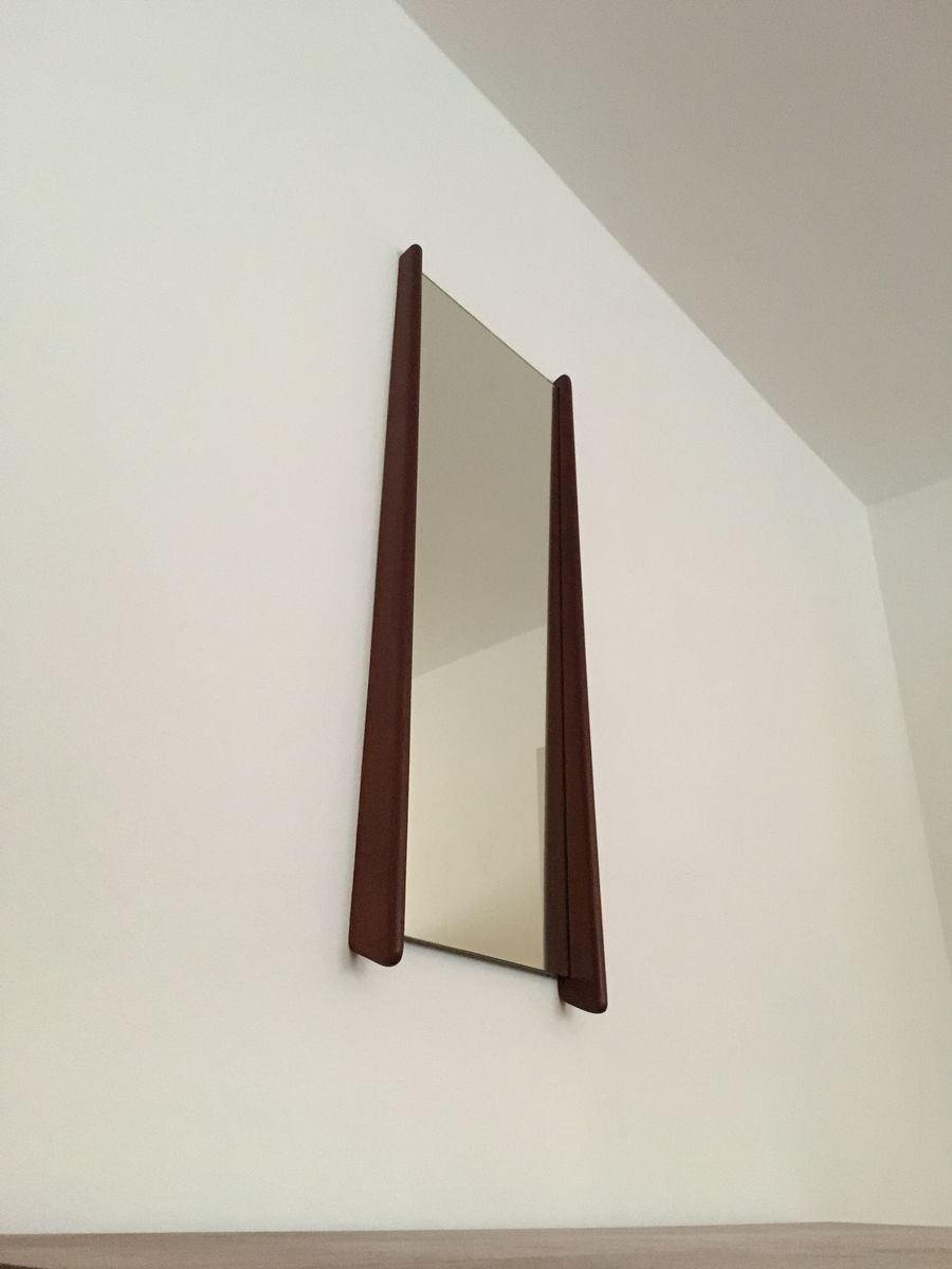 d nischer spiegel mit rahmen aus teak 1960er bei pamono. Black Bedroom Furniture Sets. Home Design Ideas
