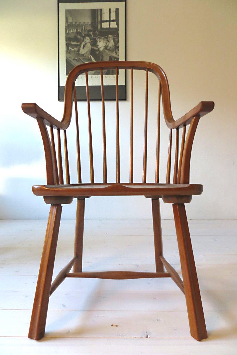 Scandinavian Beechwood Chairs, 1950s, Set Of 3 For Sale At Pamono