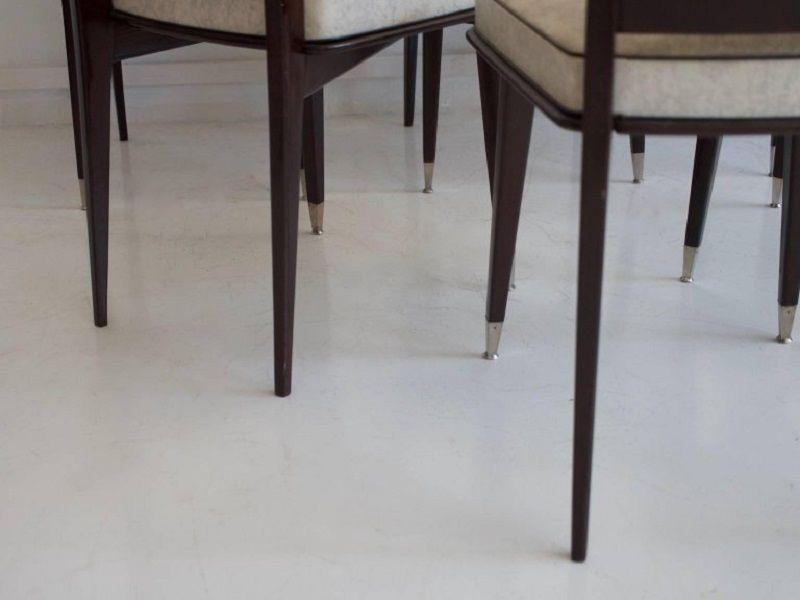 dunkel lackierte esszimmerst hle aus eiche 6er set bei. Black Bedroom Furniture Sets. Home Design Ideas