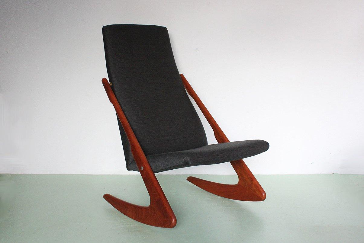 Frank reenskaug rocking chair - Mid Century Rocking Chair From Mogens Kold
