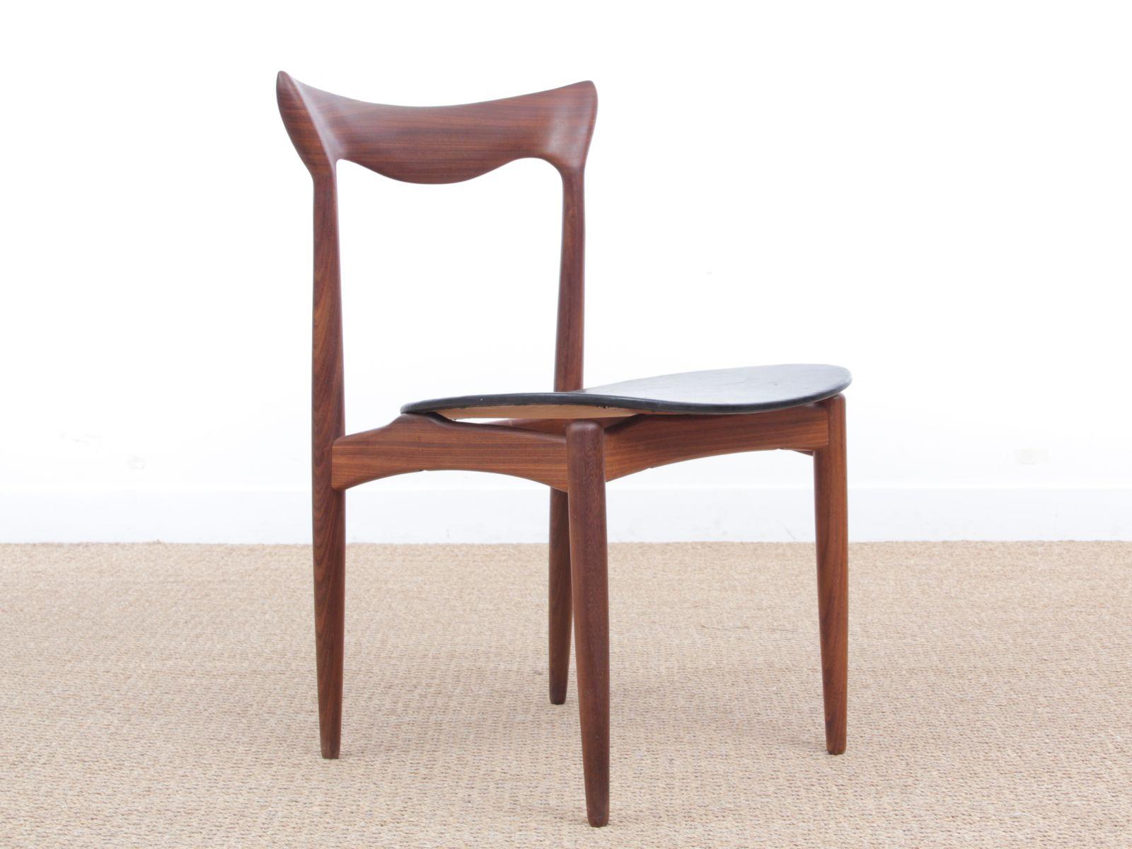 skandinavische mid century teak st hle von henry walter. Black Bedroom Furniture Sets. Home Design Ideas