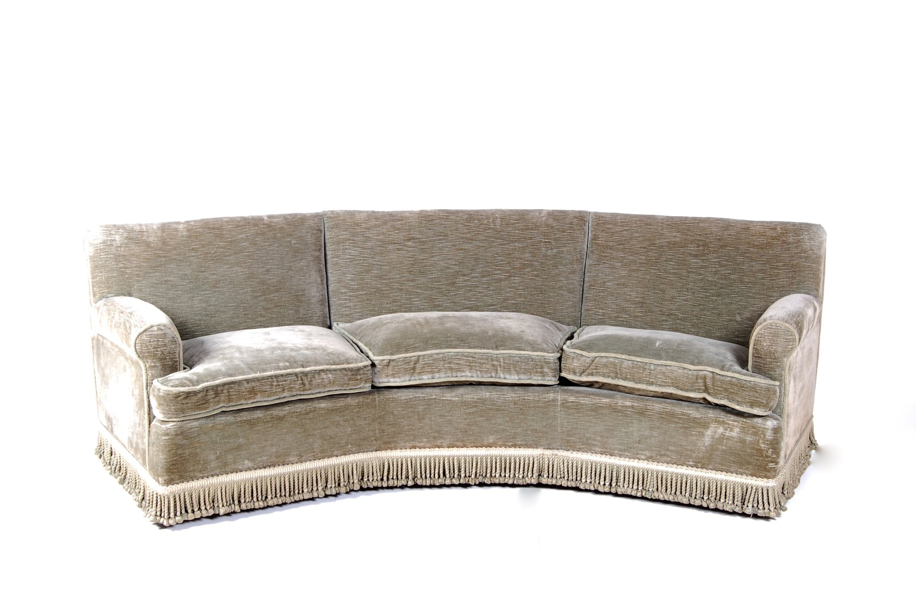 Curved Sofa Set White Bonded Leather Curved Sectional Sofa Set