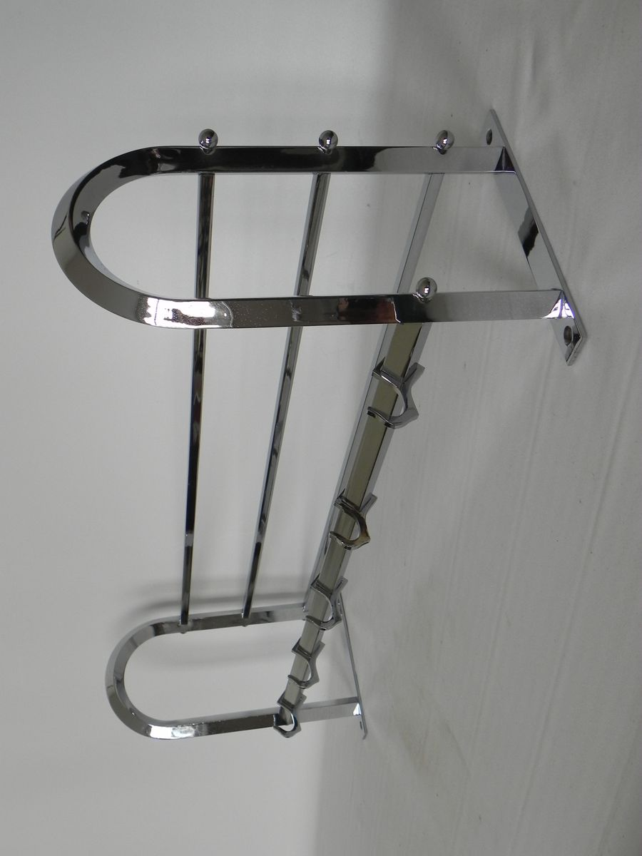 Art deco wall coat rack with 5 hooks for sale at pamono for Artistic coat hooks