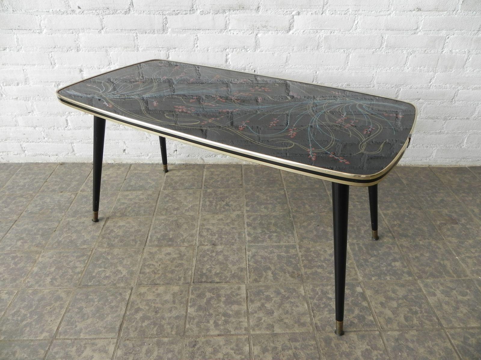mid century couchtisch mit glasplatte bei pamono kaufen. Black Bedroom Furniture Sets. Home Design Ideas