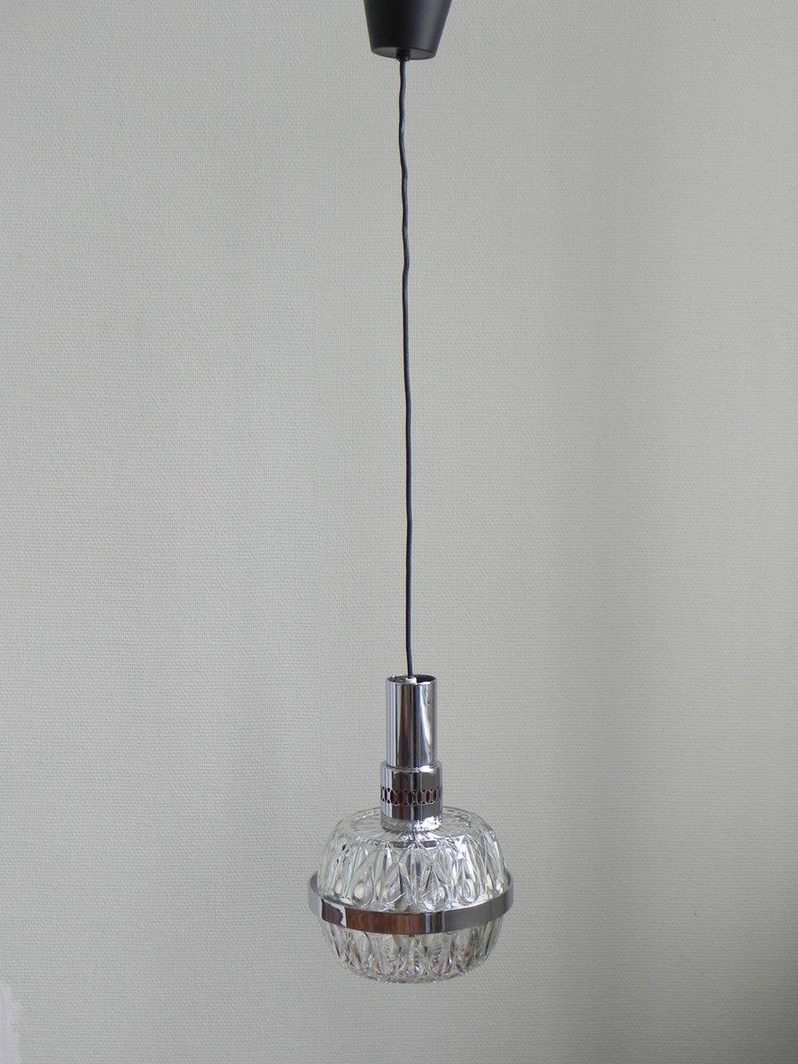 vintage h ngelampe mit massiver glaskugel bei pamono kaufen. Black Bedroom Furniture Sets. Home Design Ideas
