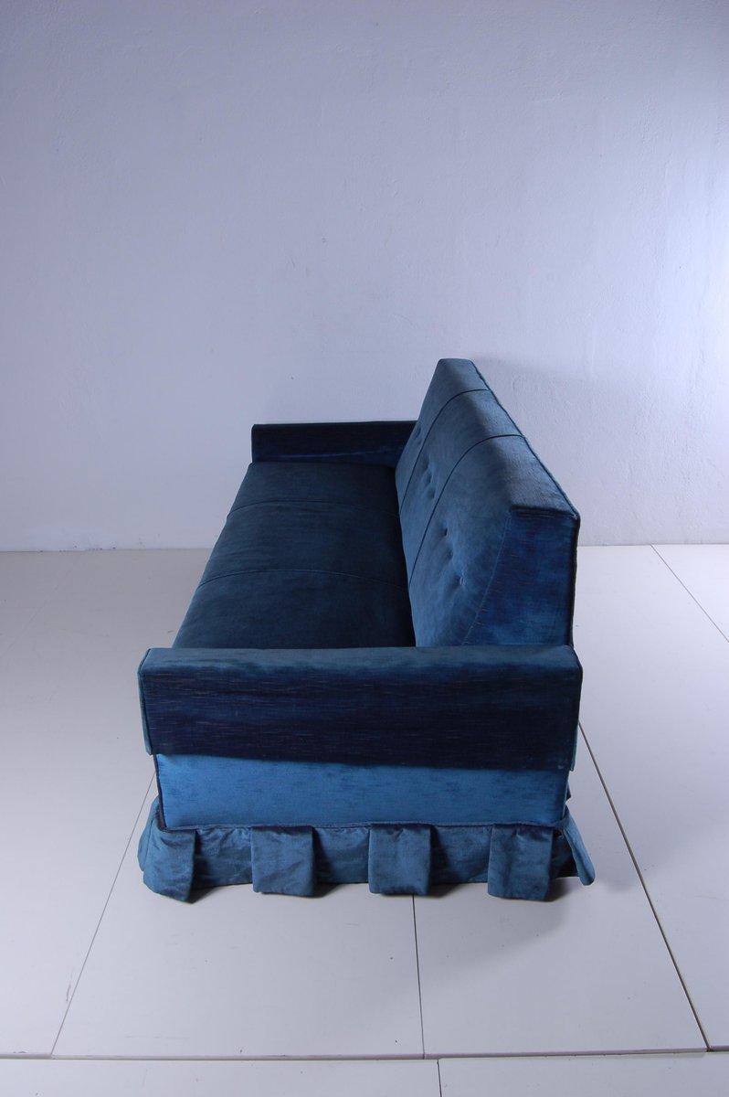 italienisches blaues vintage schlafsofa von prontissimo 1950er bei pamono kaufen. Black Bedroom Furniture Sets. Home Design Ideas