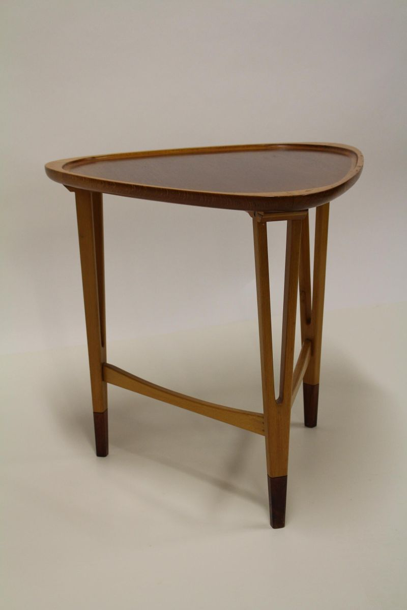 swedish triangle shaped side table 1940s