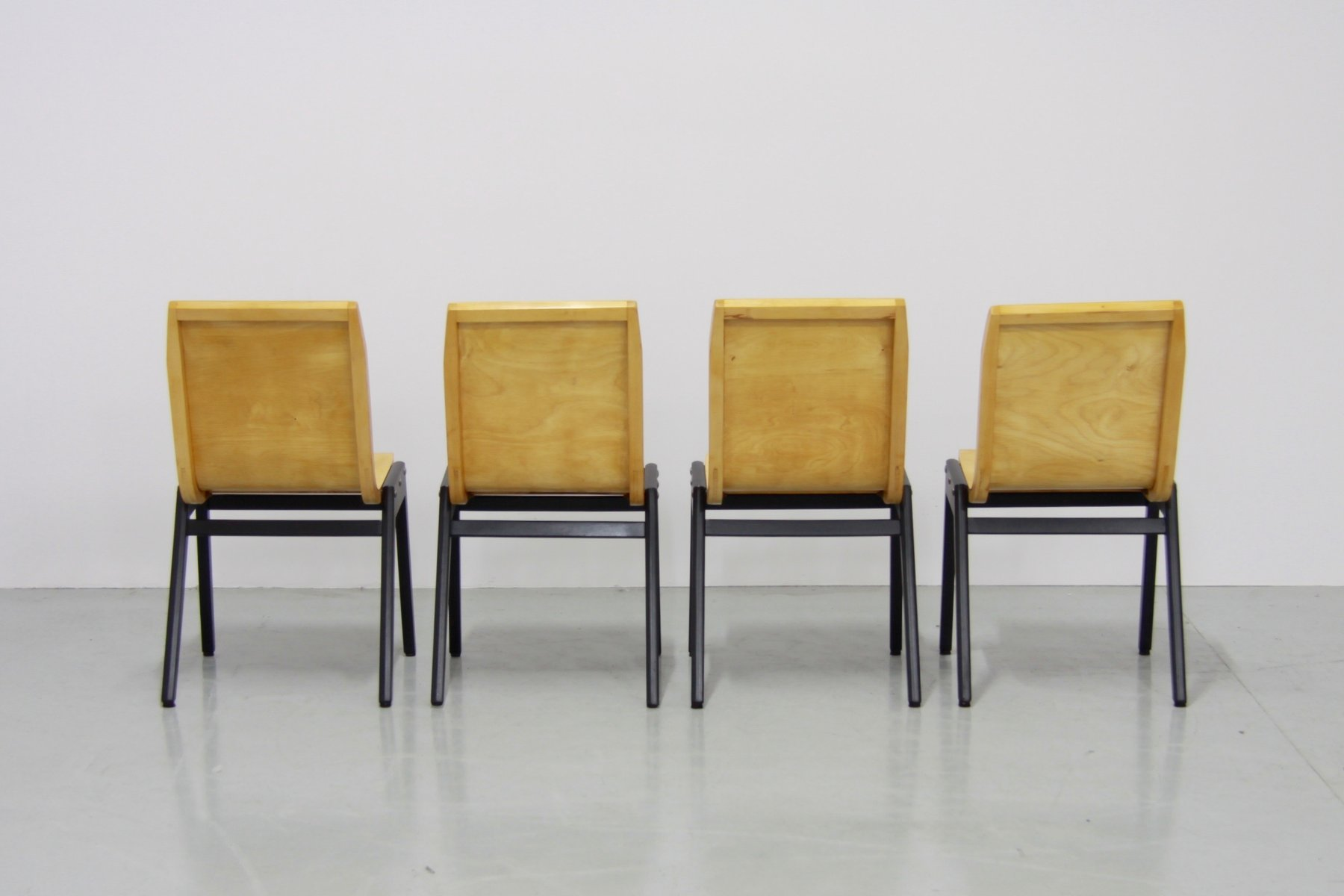 Mid Century Stacking Chairs by Roland Rainer Set of 4 for sale at