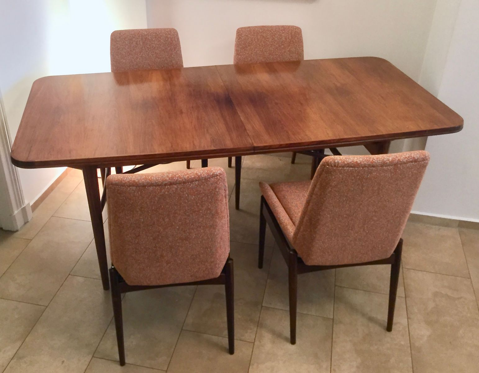 british extendable tulipwood dining table 8 chairs by