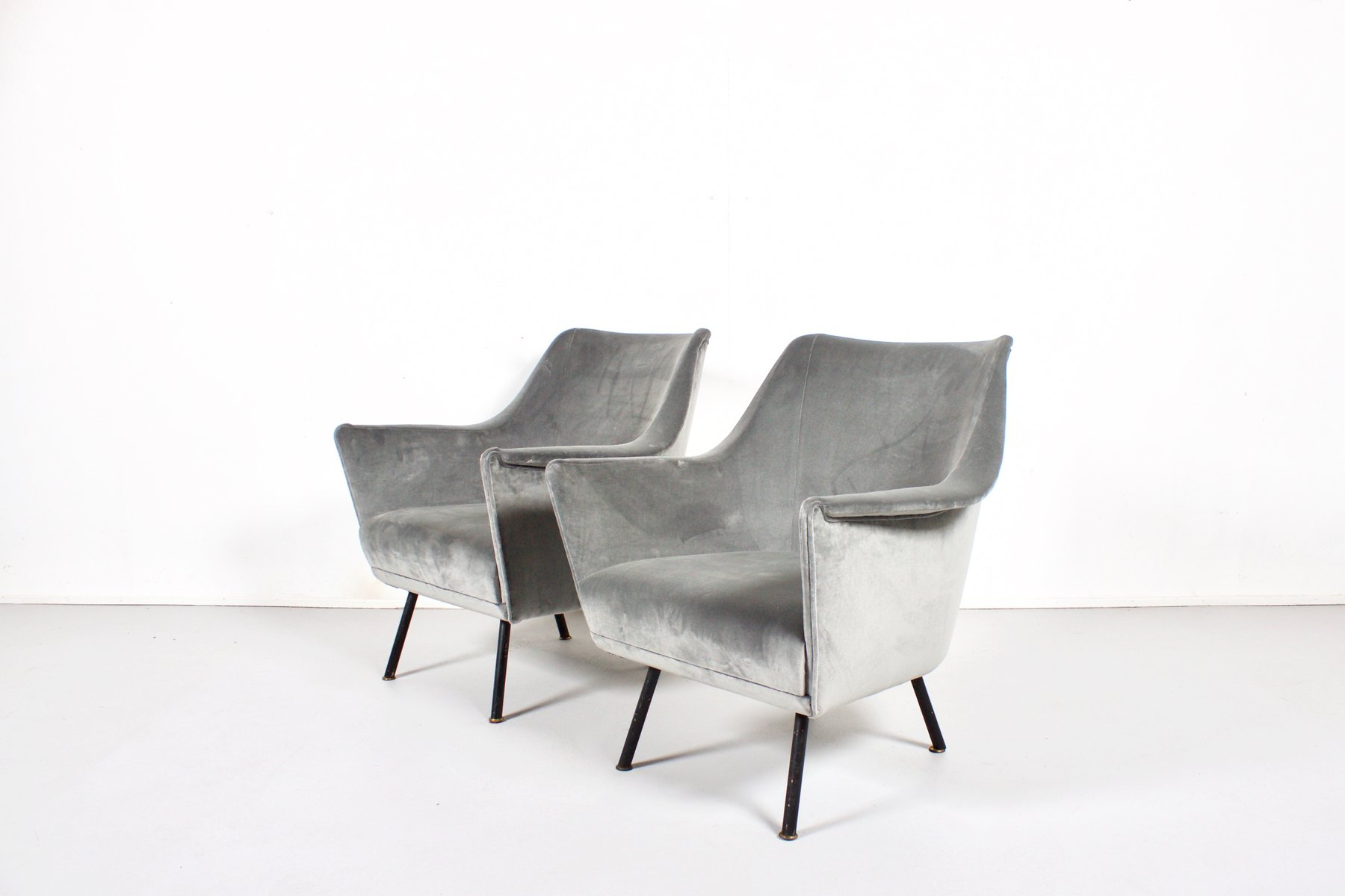 Mid Century Italian Club Chairs 1960s Set of 2 for sale at Pamono