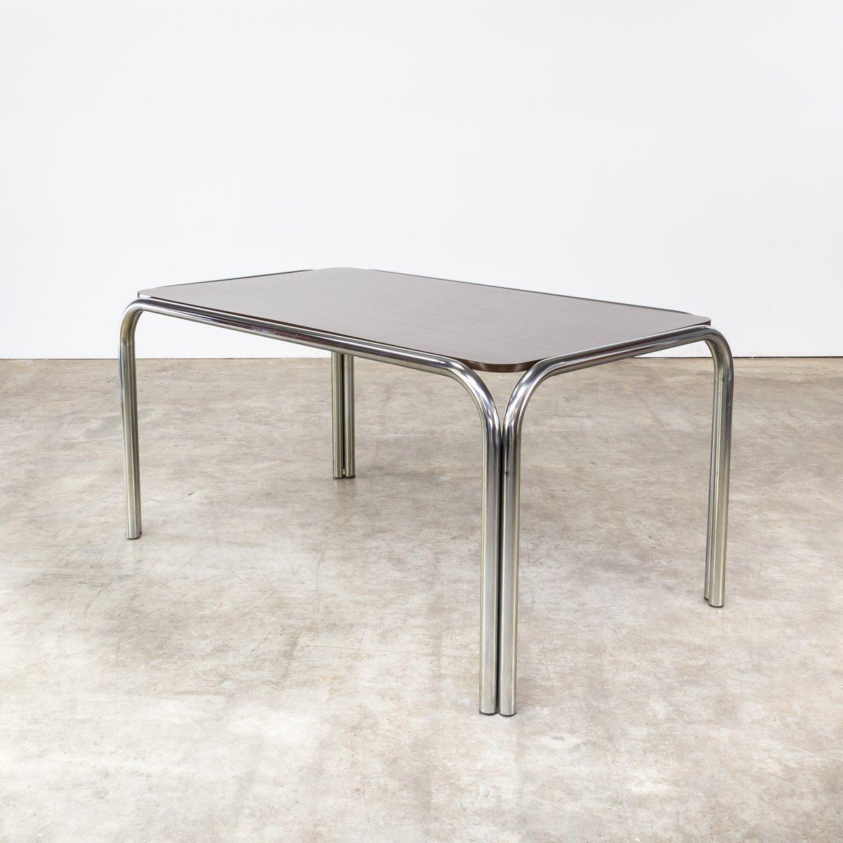 Esstisch mit gestell aus metallrohr 1970er bei pamono kaufen for Esstisch gestell