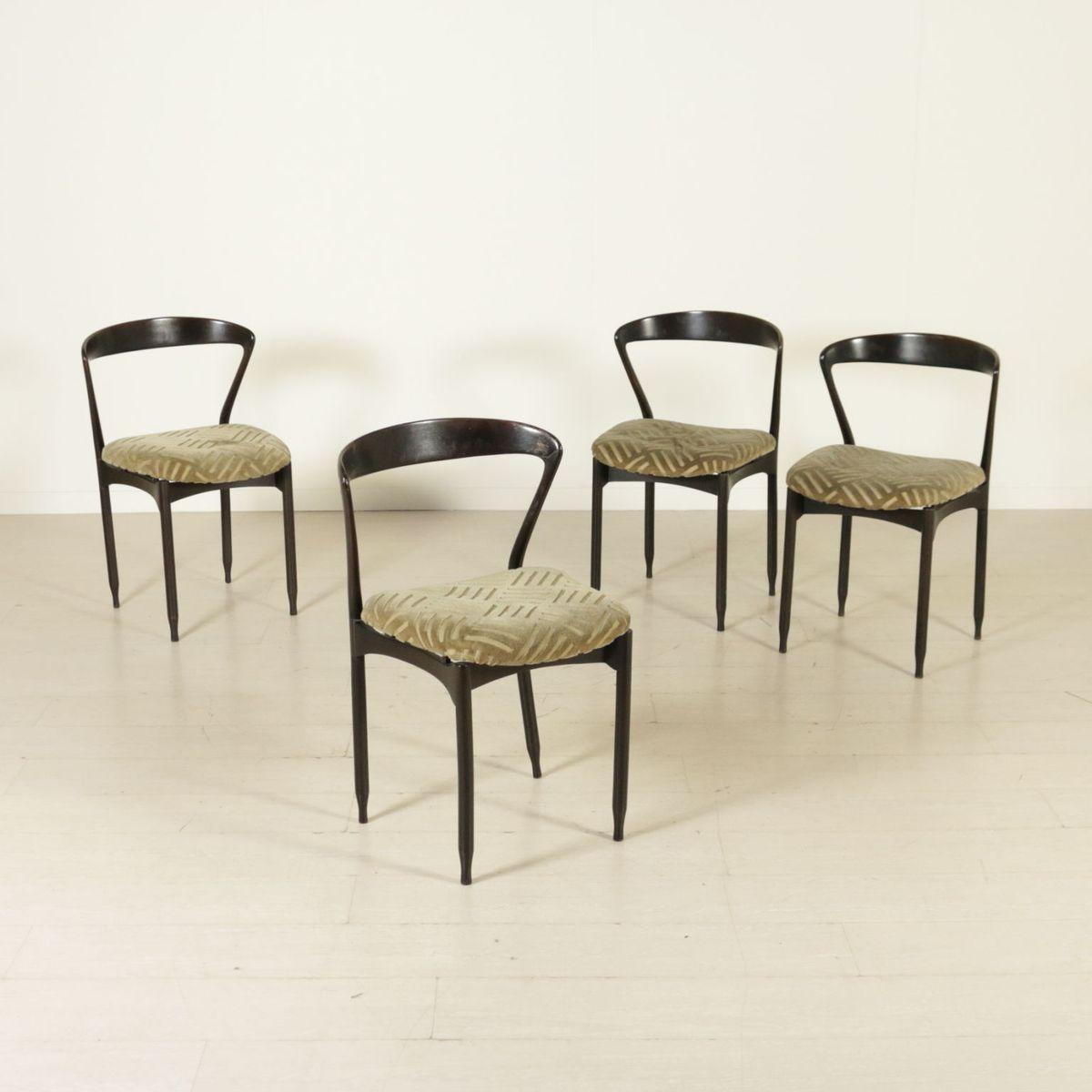 ebonisierte italienische st hle aus gebeiztem holz 1960er. Black Bedroom Furniture Sets. Home Design Ideas