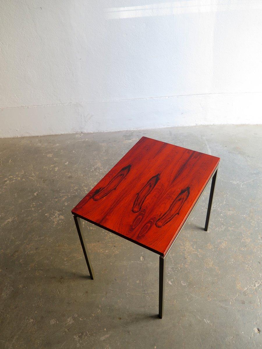 minimalistischer vintage beistelltisch mit palisander tischplatte bei pamono kaufen. Black Bedroom Furniture Sets. Home Design Ideas
