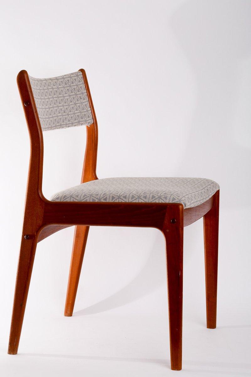 d nische mid century teak st hle 4er set bei pamono kaufen. Black Bedroom Furniture Sets. Home Design Ideas