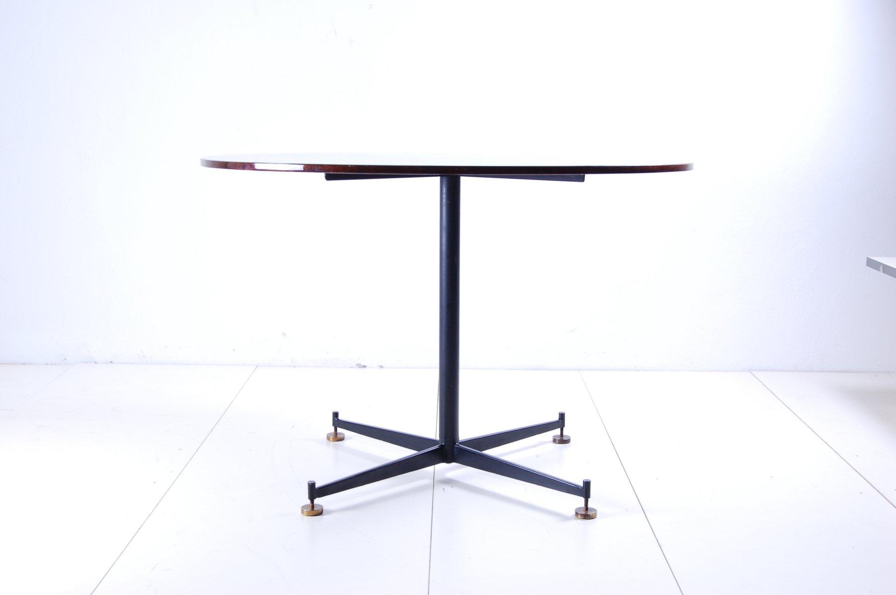 runder-tisch-aus-eisen-und-holz-1950er-2 Schöne Runder Tisch Ausziehbar Kaufen Dekorationen