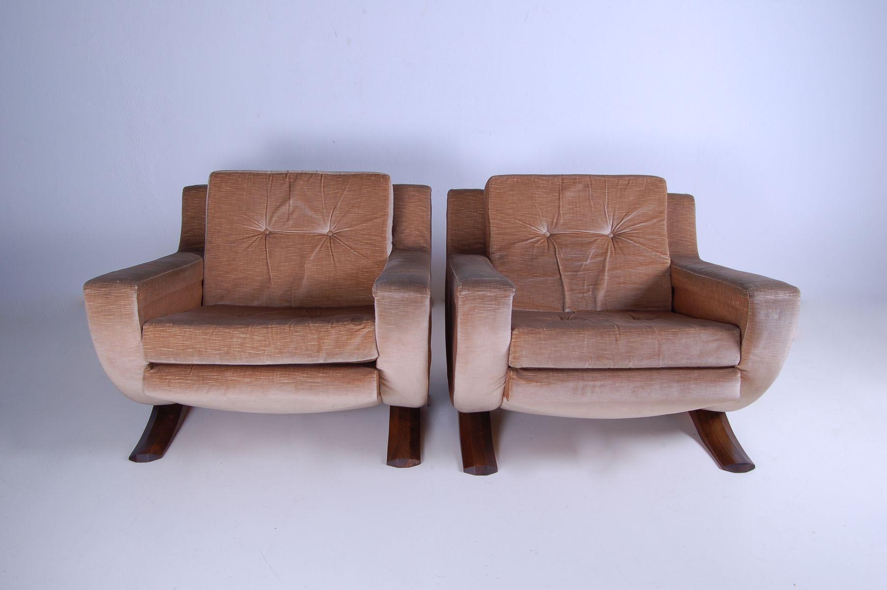 sessel mit wippfunktion 1970er 2er set bei pamono kaufen. Black Bedroom Furniture Sets. Home Design Ideas