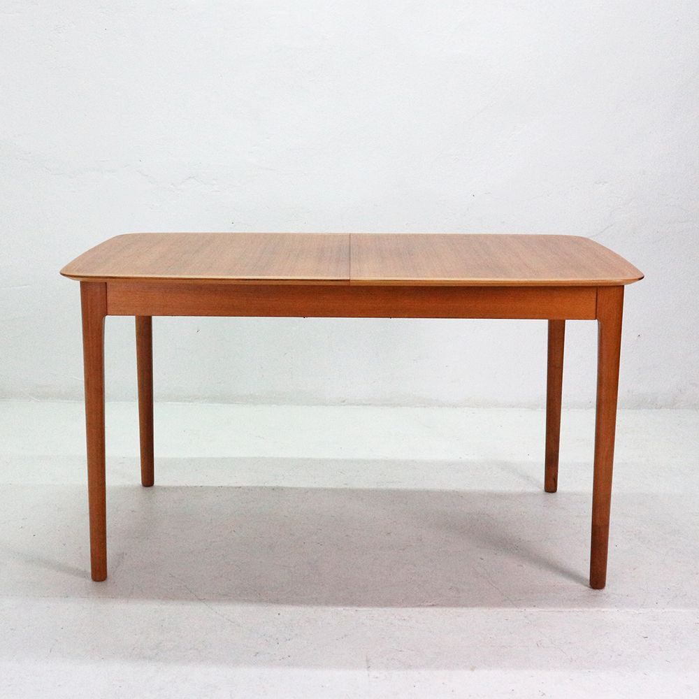 Extendable walnut veneer dining table from l bke 1960s for Walnut dining table