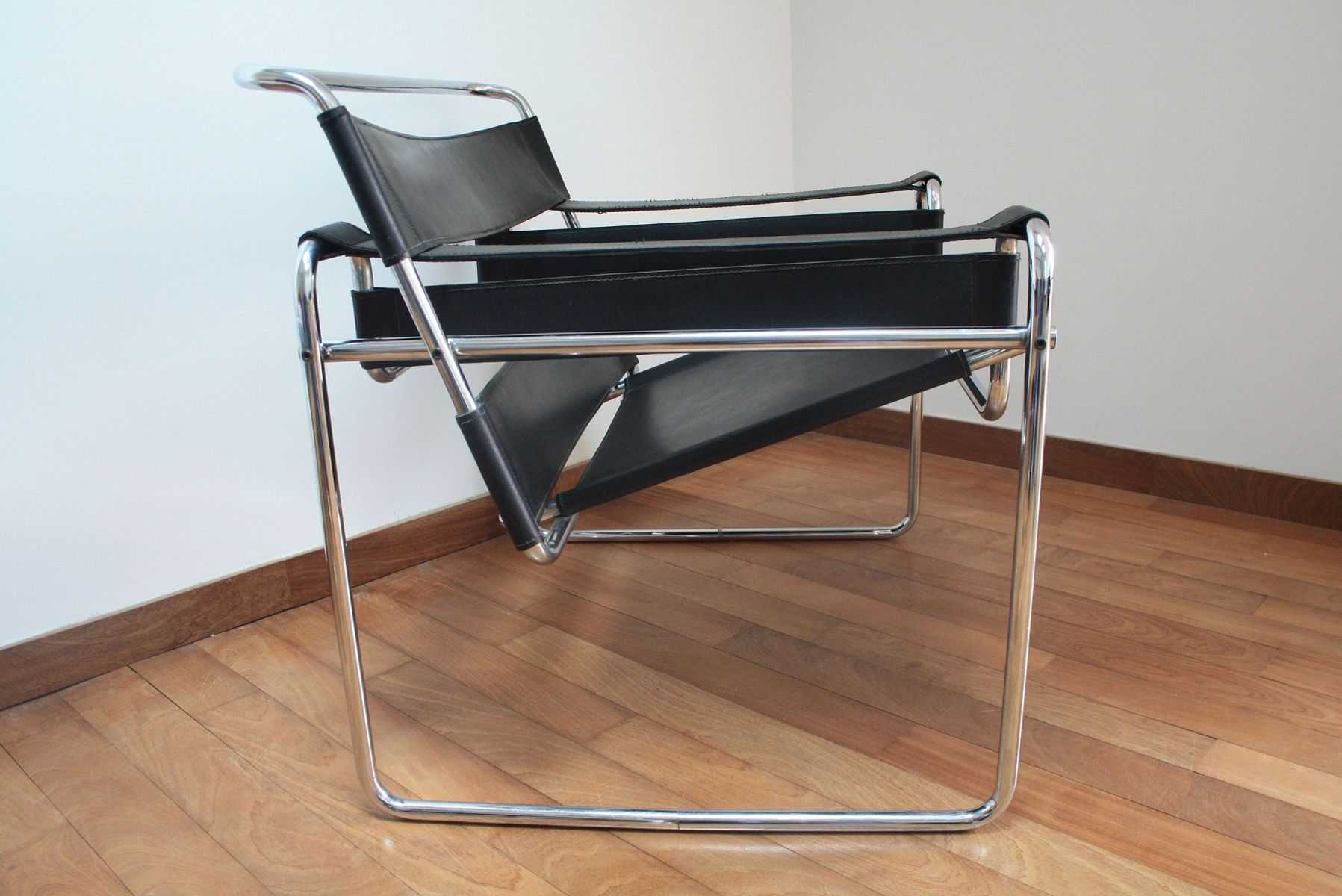 b3 wassily sessel von marcel breuer 1960er 2er set bei. Black Bedroom Furniture Sets. Home Design Ideas