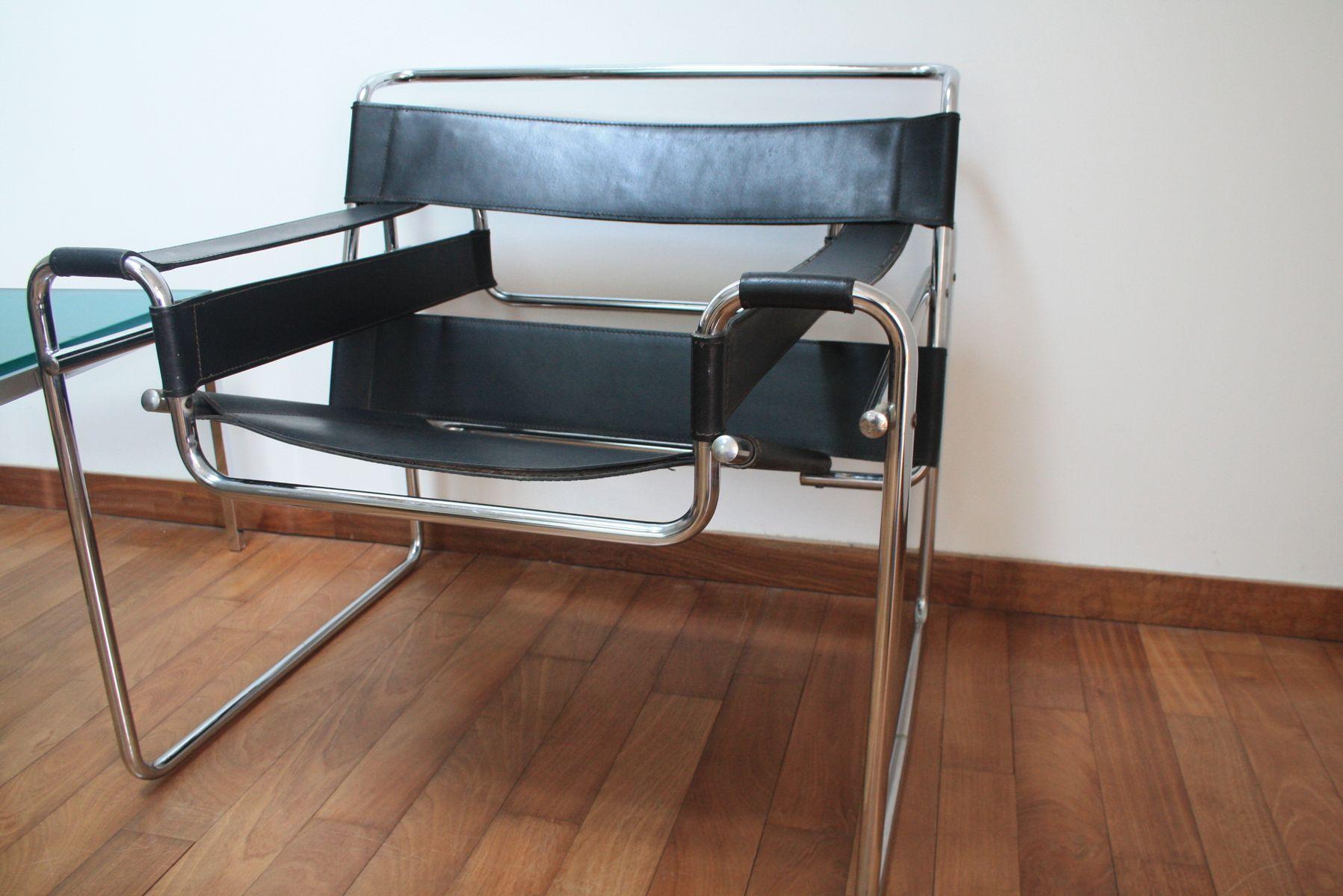 b3 wassily sessel von marcel breuer 1960er 2er set bei pamono kaufen. Black Bedroom Furniture Sets. Home Design Ideas