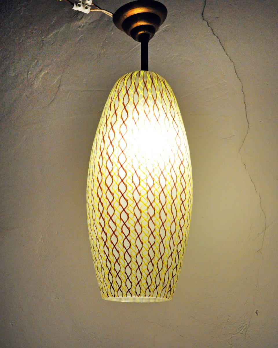 murano glass pendant lamp 1950s for sale at pamono. Black Bedroom Furniture Sets. Home Design Ideas