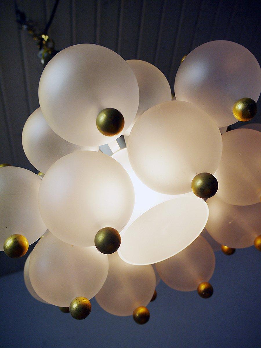 glaskugel h ngelampe von j t kalmar 1960er bei pamono kaufen. Black Bedroom Furniture Sets. Home Design Ideas