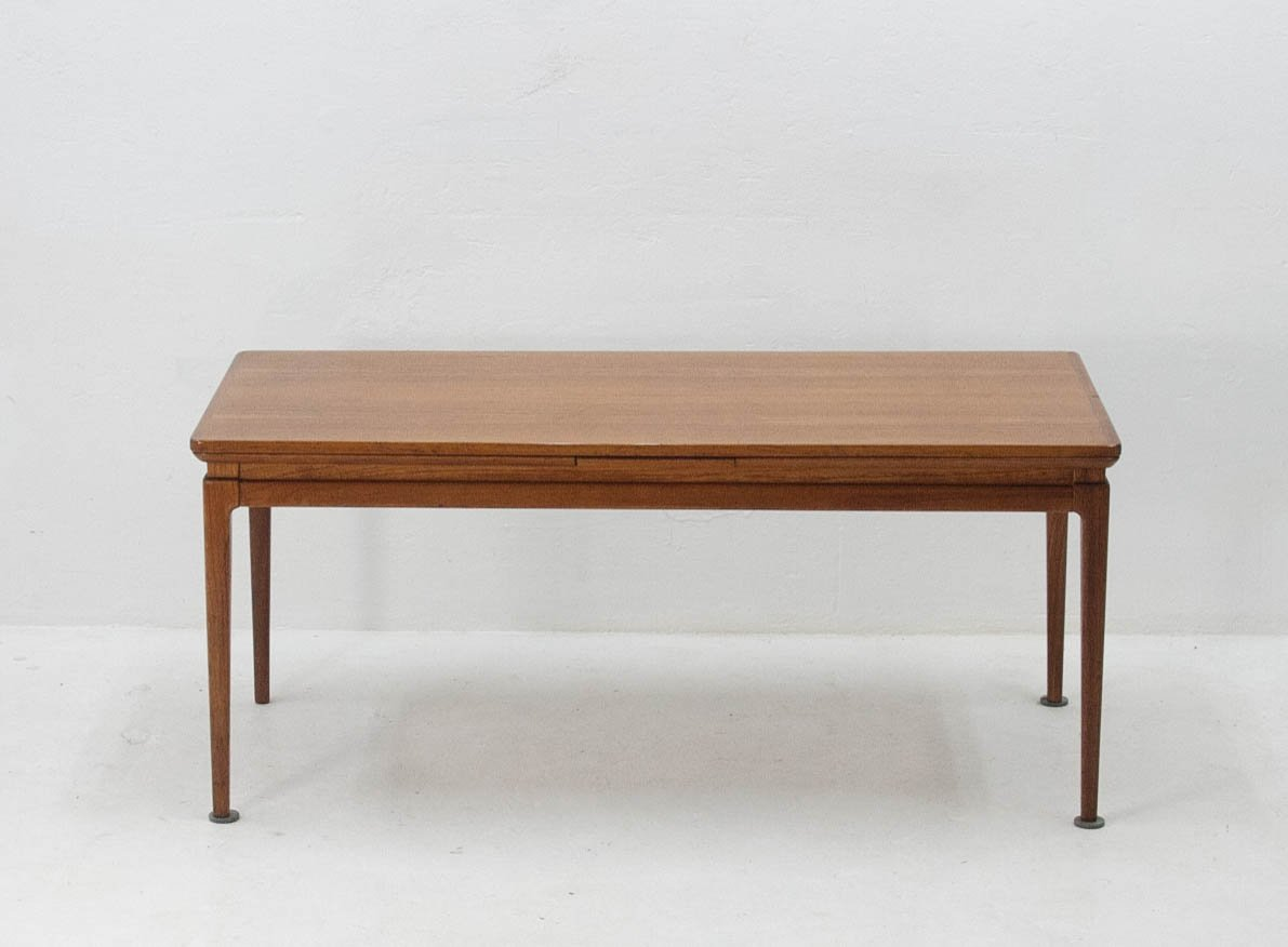Extendable teak veneer coffee table by johannes anderson for cfc silkenborg 1965 for sale at pamono - Telescopic coffee table ...