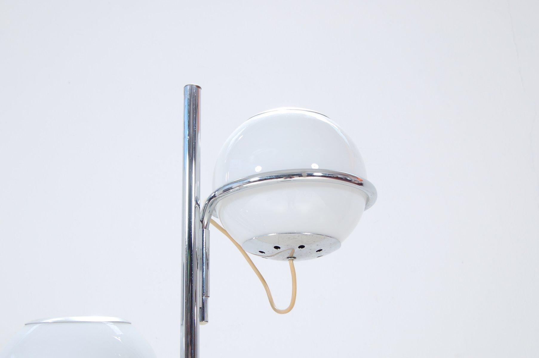 vintage stehlampe mit drei leuchten und sockel aus marmor. Black Bedroom Furniture Sets. Home Design Ideas