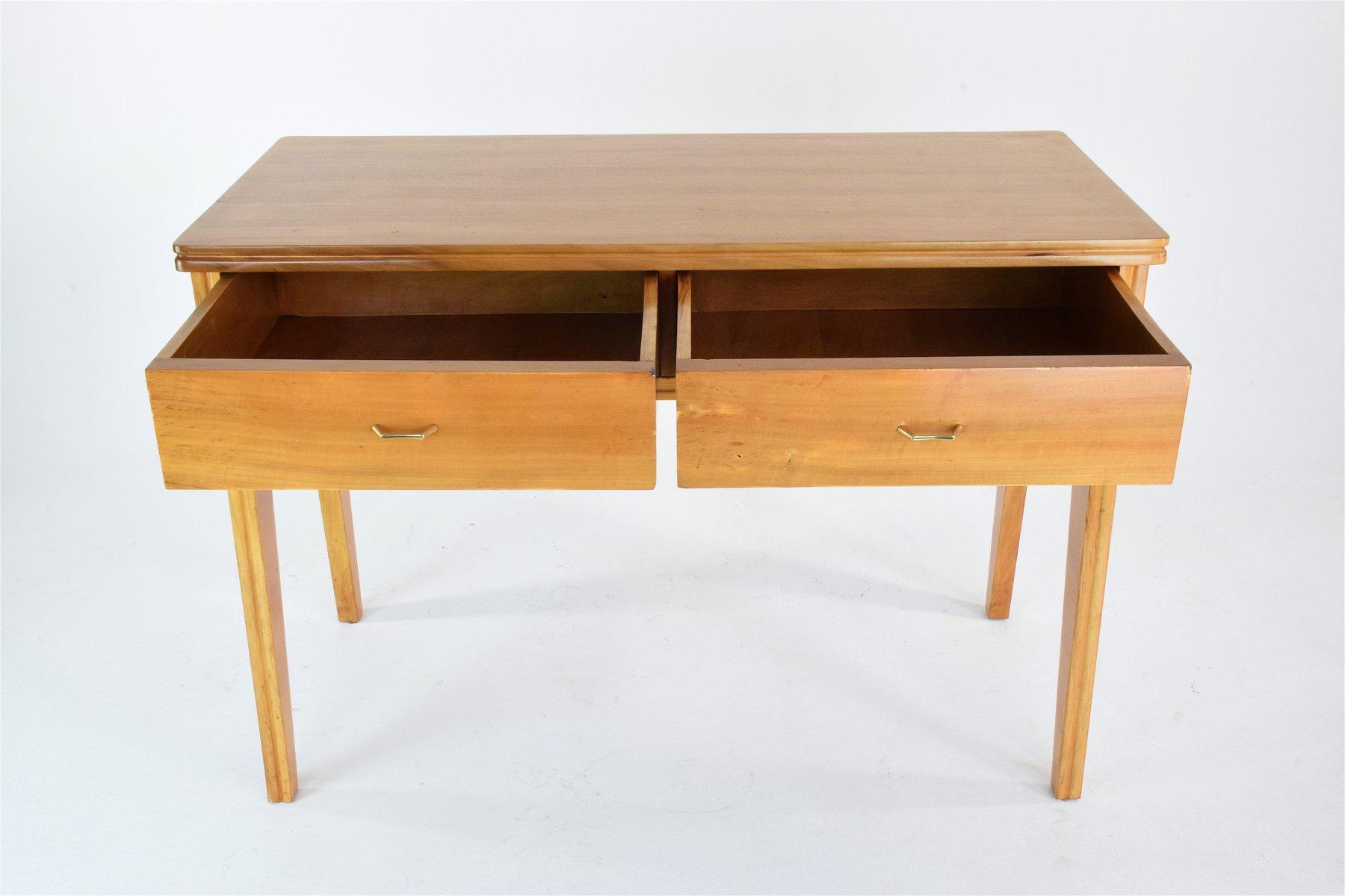 italienischer mid century kirschholz schreibtisch bei pamono kaufen. Black Bedroom Furniture Sets. Home Design Ideas