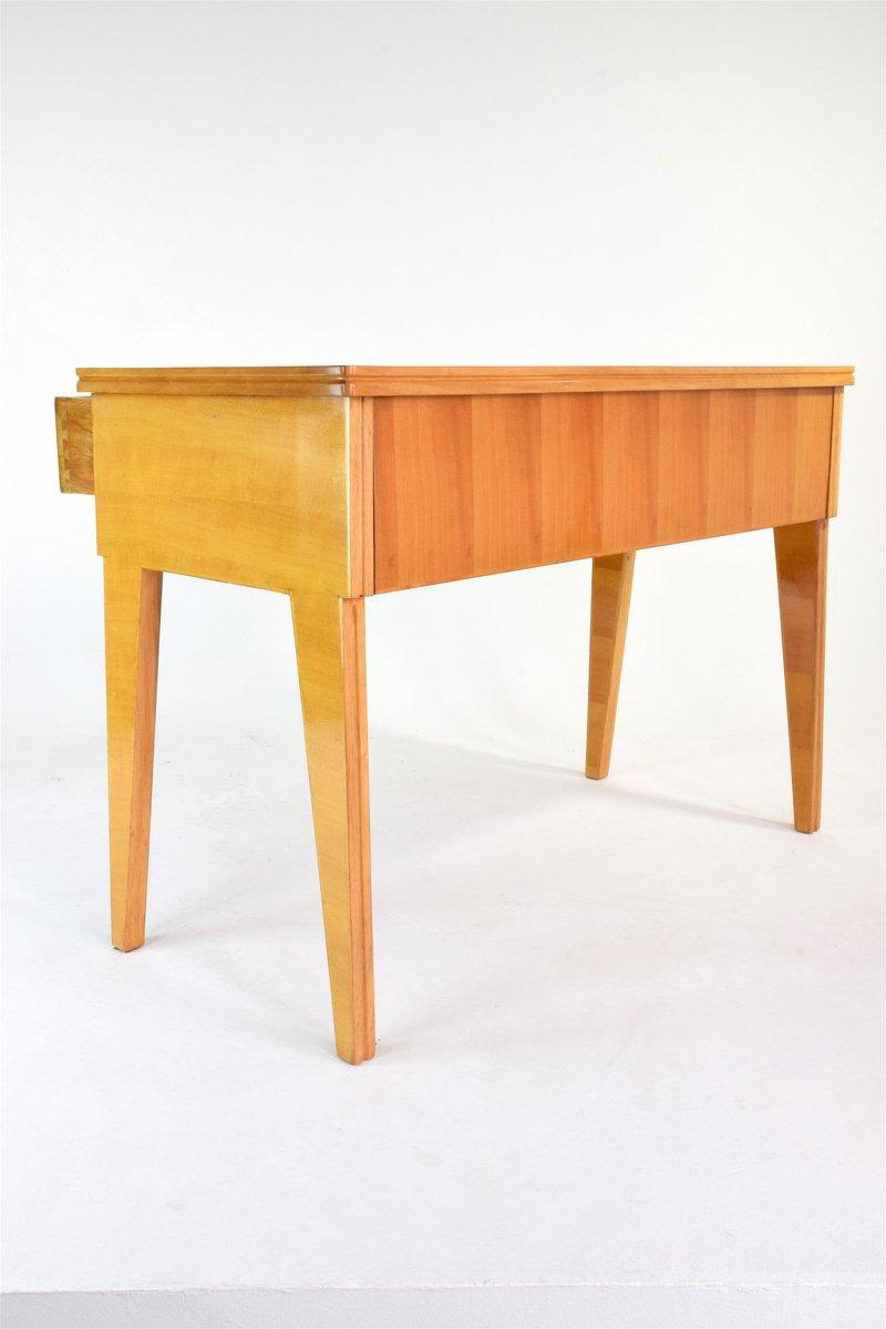 italienischer mid century kirschholz schreibtisch bei. Black Bedroom Furniture Sets. Home Design Ideas