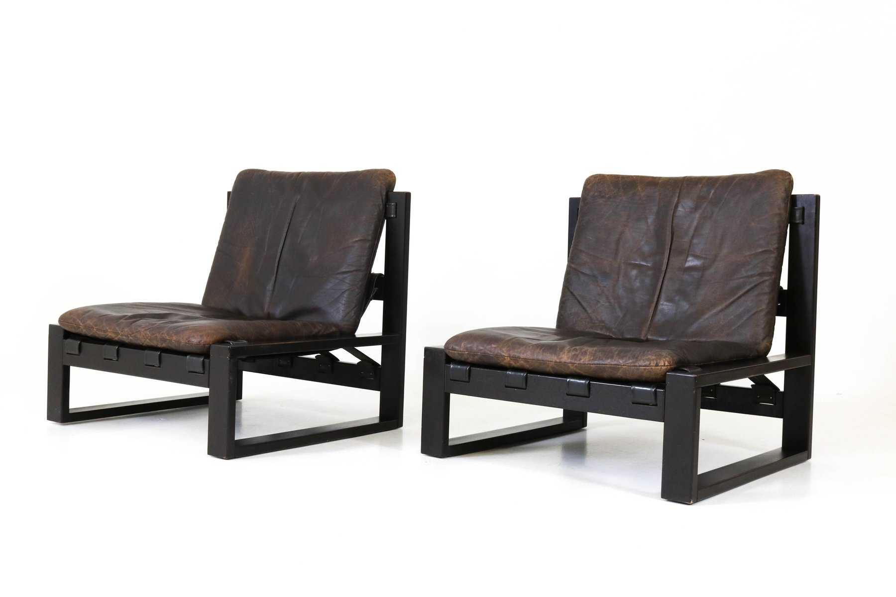 Dutch mid century brutalist lounge chairs by sonja wasseur for Dutch design chair uk