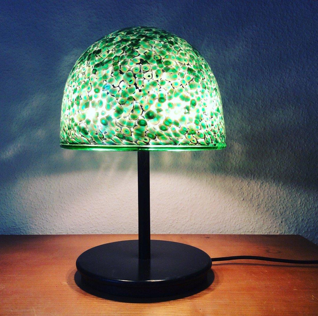 vintage murano glas tischlampe von luciano vistosi bei. Black Bedroom Furniture Sets. Home Design Ideas