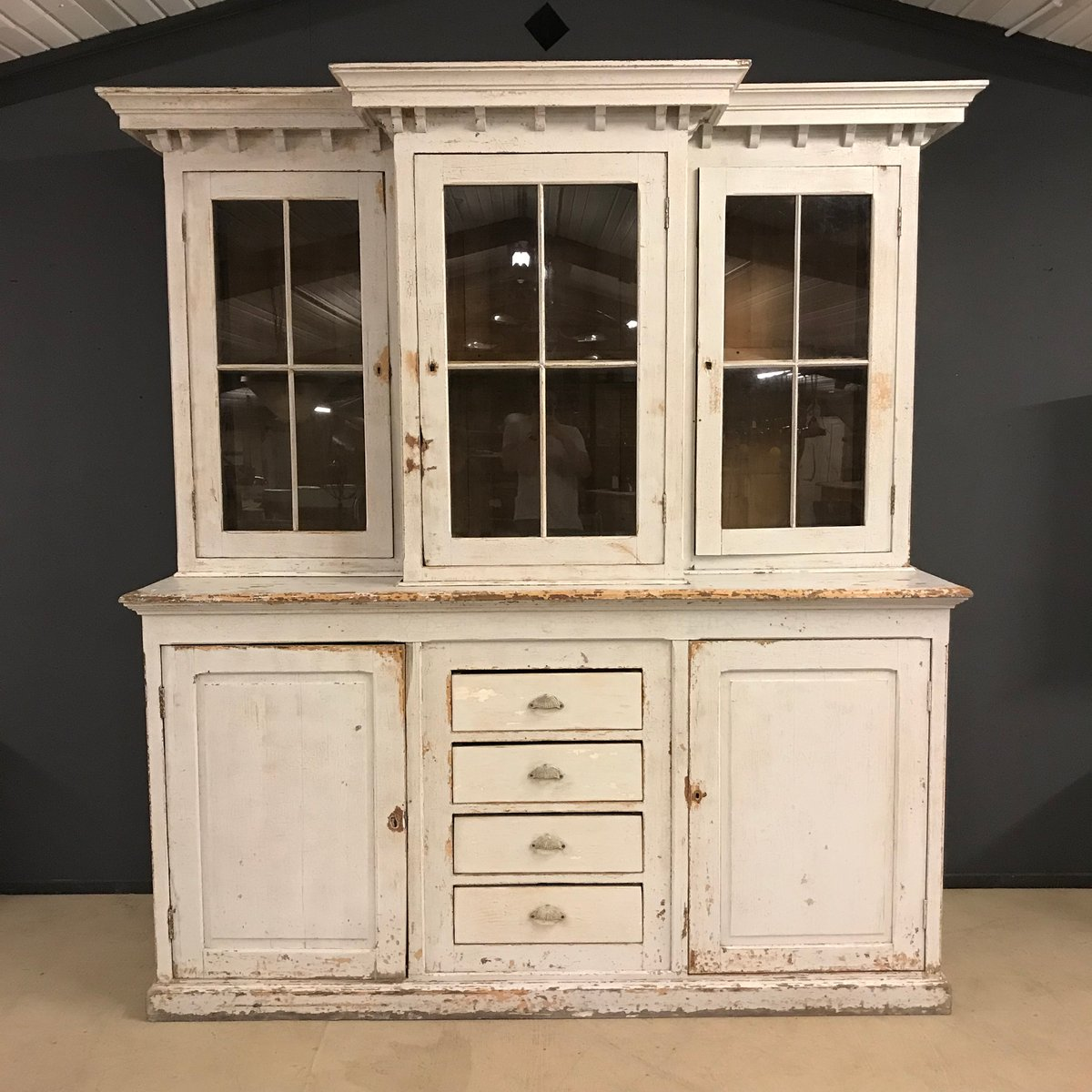 Antique Kitchen Hutch And Buffet: Large French Antique Buffet Cabinet, 19th Century For Sale