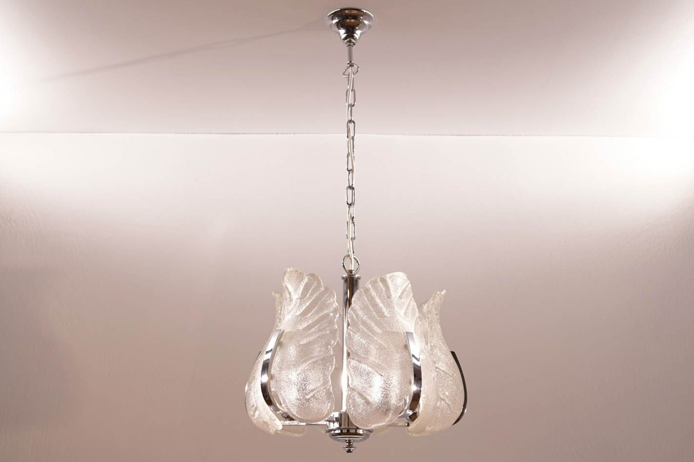 vintage kronleuchter aus chrom murano glas von carl fagerlund f r orrefors bei pamono kaufen. Black Bedroom Furniture Sets. Home Design Ideas
