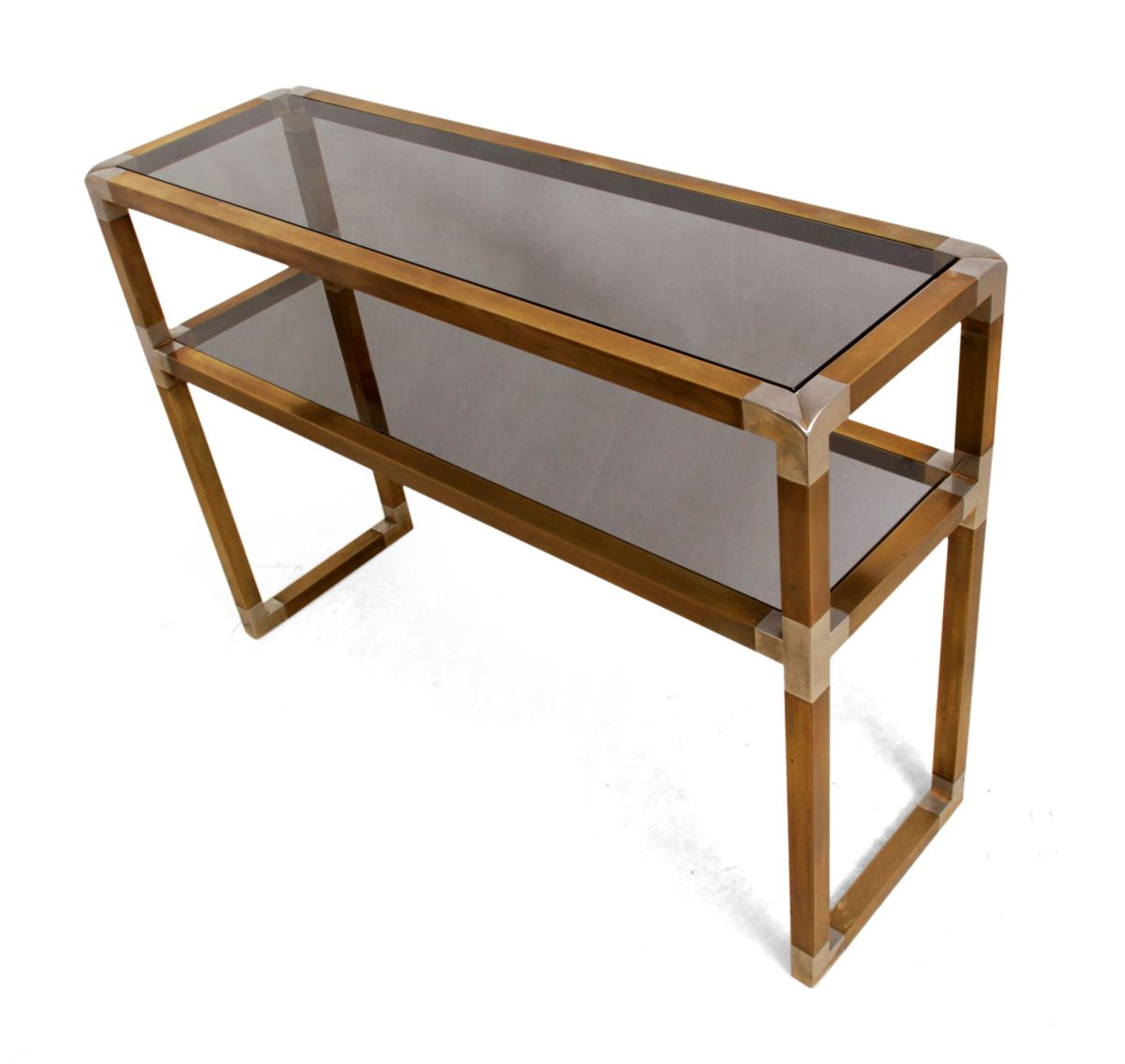Italian brass and steel console table 1960s for sale at for Sofa table rules